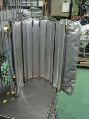 ボンベの凍結防止加熱機構