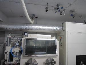 グローブボックス用アルゴンガス供給系配管