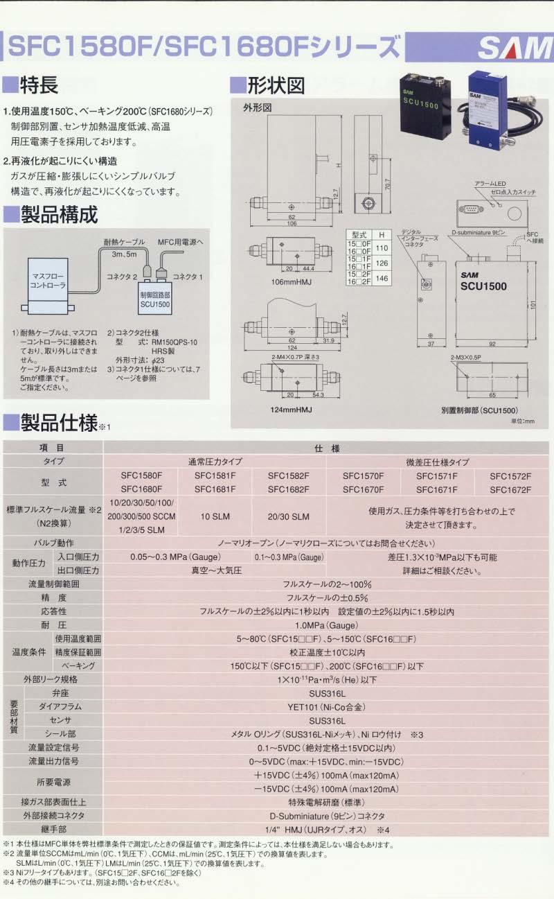 MFC 強度計算書付き高圧MFC、高温MFC