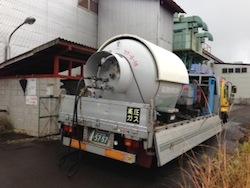LPGバルク内のガス抜き取り作業