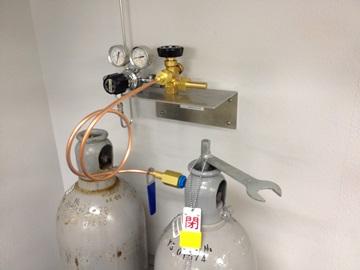 初めての窒素ガス配管工事