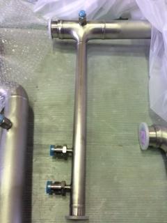 真空配管溶接加工+ガス溶接継手
