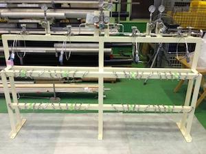 アンモニアガス半自動切替式供給設備