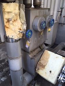 液体窒素配管の保冷加工
