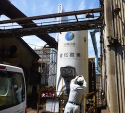 超低温液化ガス貯槽 CE(コールドエバポレーター)定期自主検査