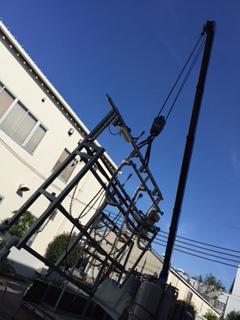 架台や装置の耐震固定(アンカーボルト打ち)