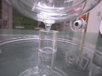 液化窒素用真空断熱ガラス加工品