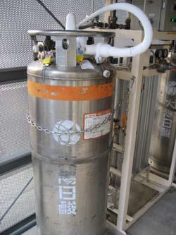 液化ガスによる氷結
