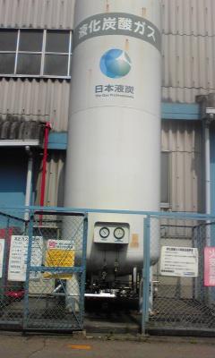 コールドエバポレーター(CO2貯槽)の定期検査