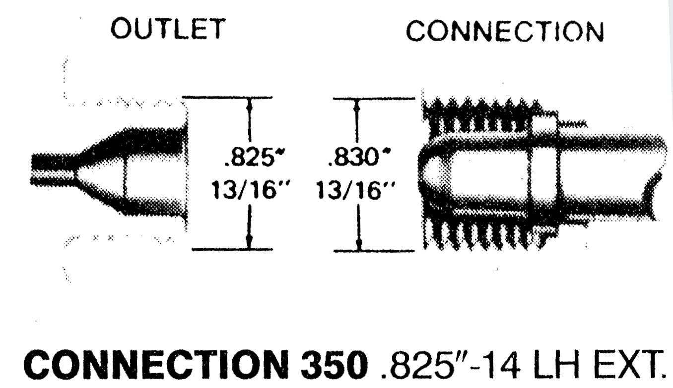 ヘリウムガス継手 CGA350