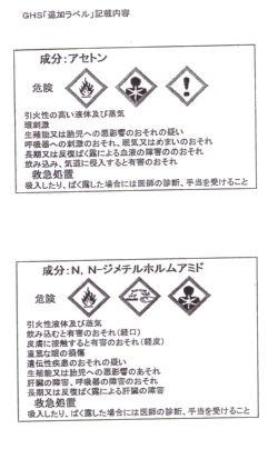 アセチレン(労働安全衛生法の改正)
